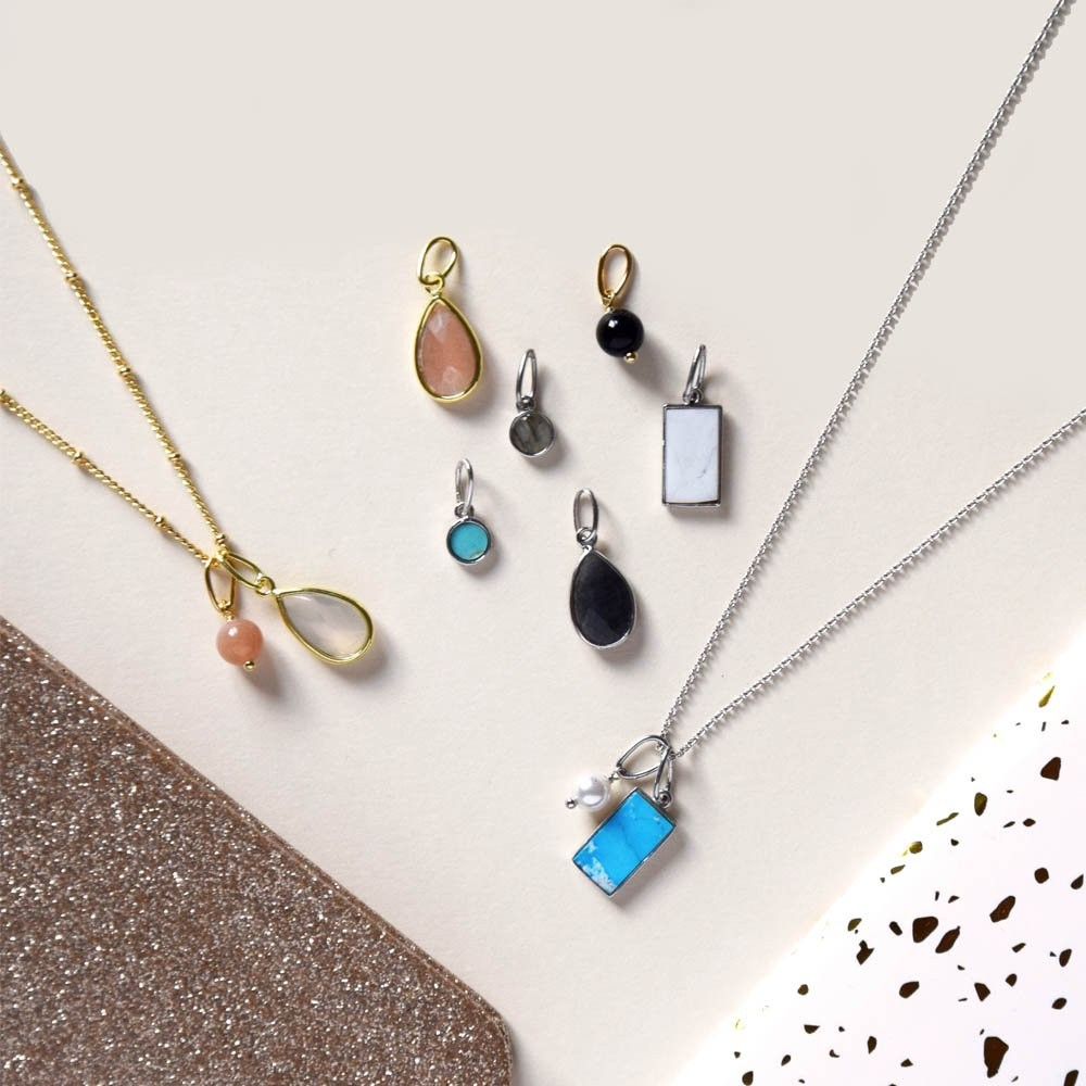 Soldes Agatha Pendentif ROND - Turquoise - -2