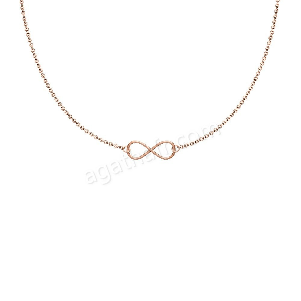 Soldes Agatha Collier ras du cou INFINITY - Rose - -0