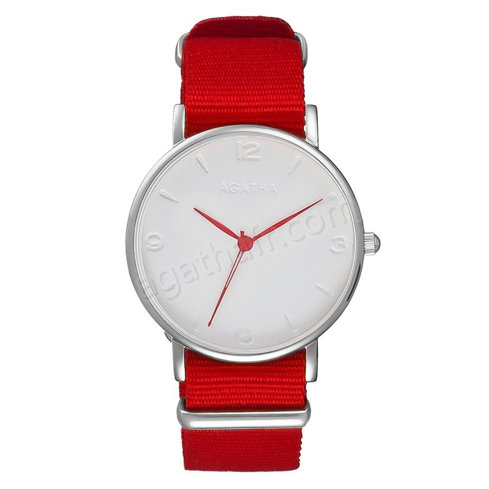 Soldes Agatha Montre SOLL NATO - Rouge - -0