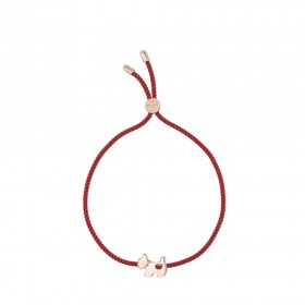 Soldes Agatha Bracelet cordon SCOTTIE LUCKY - Rouge - Rose