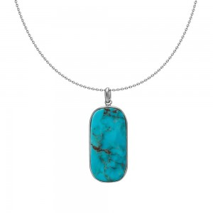 Soldes Agatha Collier mi-long MOPA - Turquoise